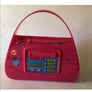 Barbie Purse Bank Plastic Pink Talking Balance